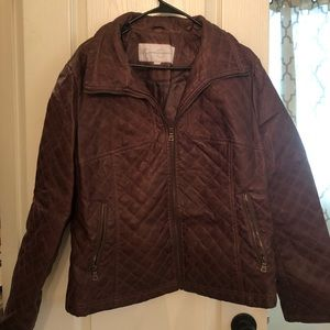 Jessica Simpson Quilted Leather Jacket XL